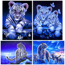 Diamante Pintura Diamante bordado 5d diy pintura broca praça cheia de animais Tigre-diamante mosaic daimond(China)