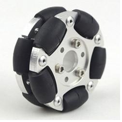 60mm Double Aluminum Omnidirectional Wheel (Omni Wheel) 1414560 Millimeter Robot Competition Universal Wheel Aluminum Wheel wheel