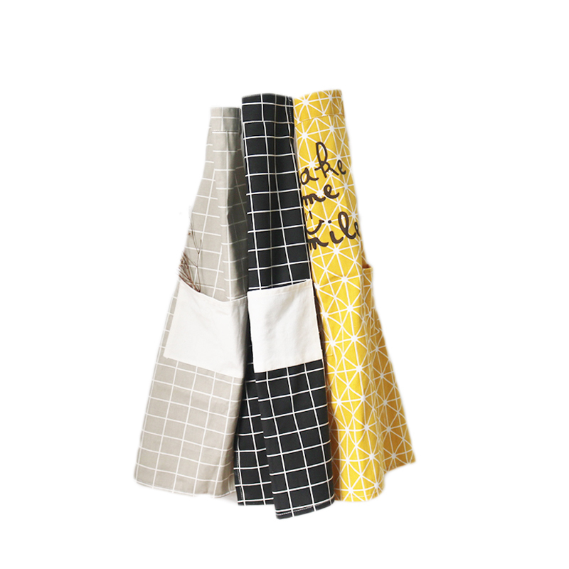 Cotton And Linen Adult Kitchen Apron Microwave Oven Gloves Sleeves Cuffs Set Cafe Studio Bakery Men