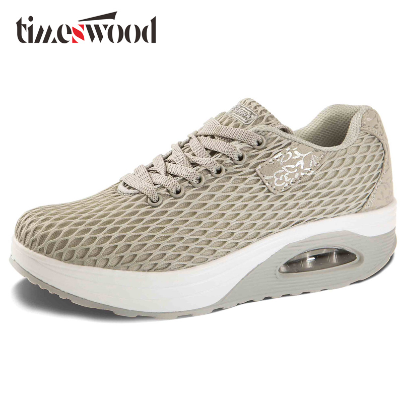 TIMESWOOD 2018 New Swing Women Shoes Air Mesh Fashion Breathable Casual Shoes Platform Shoe Female Height Increase Wedge Shoes summer shoes women casual fashion height increasing women platform shoes breathable air mesh swing wedges shoe women krasovki