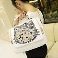 New luxury famous brand women shoulder bag crocodile leather hello kitty handbags shoulder bags tote bolsa feminina 40