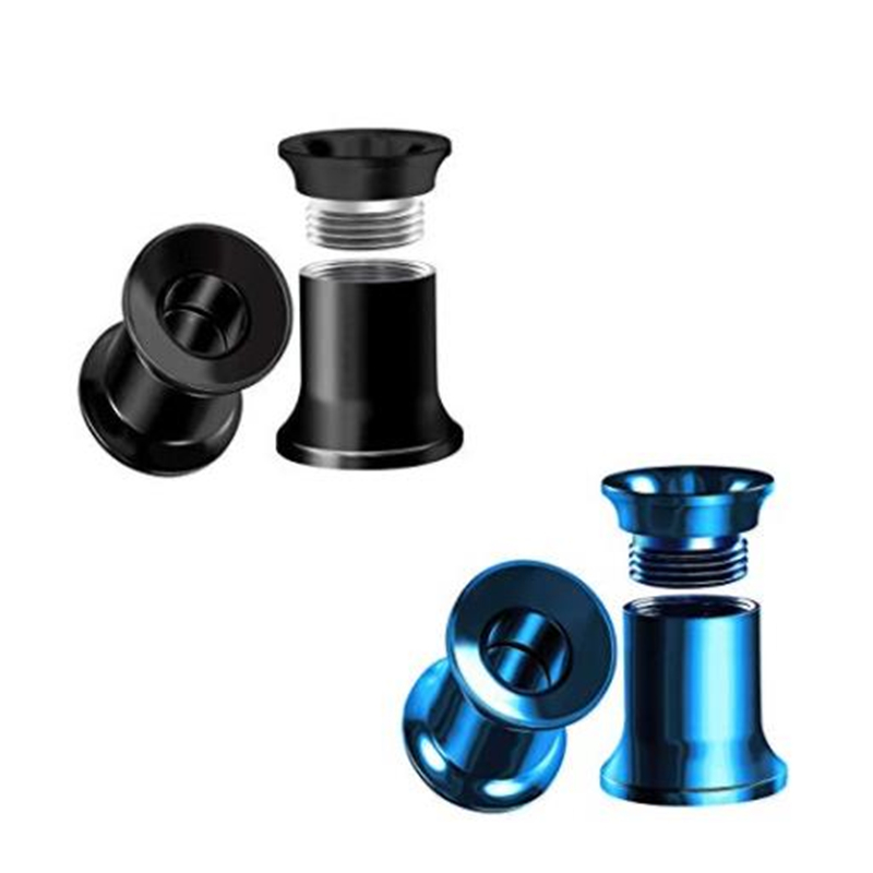 Clear//Black Sold as a Pair 316L Surgical Steel Screw Fit Flesh Tunnel Ear Plug with PVD Plated Balls and CZ Stones