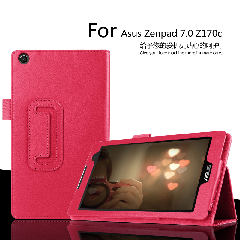 For Asus ZenPad C 7.0 Z170c 7 inch Tablet Case Litchi PU Leather Cover For Asus Z170c Tablet Slim Protective shell FreeShipping цена и фото