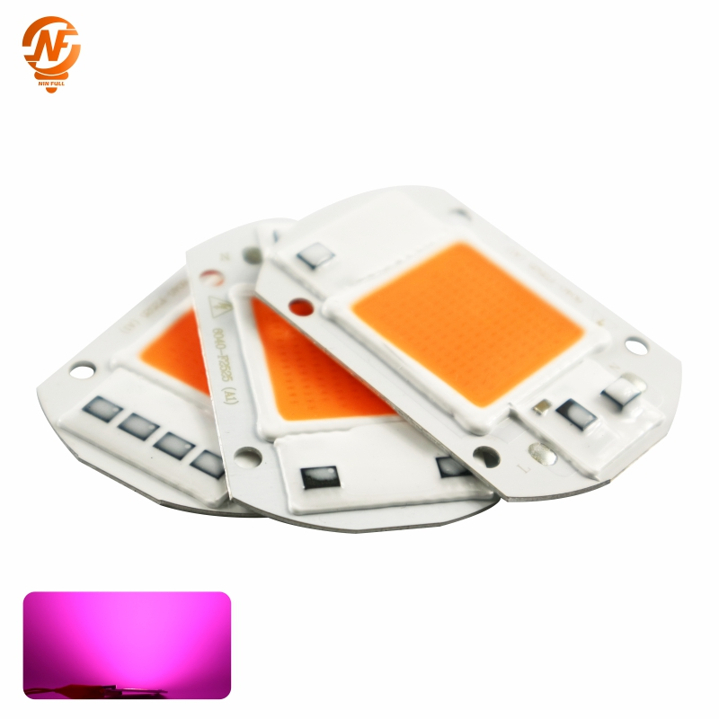 AC110V 220V COB LED Chip Phyto Lamp Full Spectrum 10W 20W 30W 50W LED Diode Grow Lights Fitolampy For Seedlings Indoor