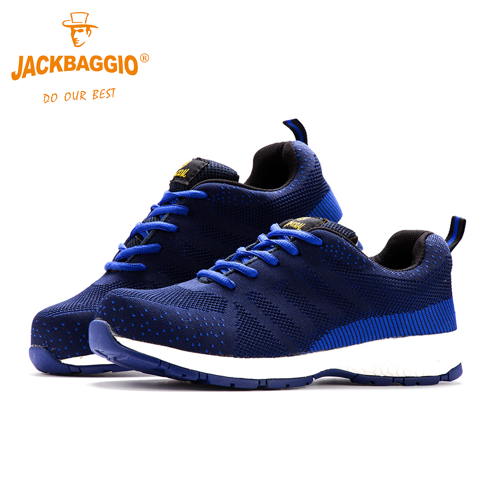 2018 Fashion comfortable New Four Seasons Work shoes, Anti-slip,Safety shoes,Breathable Reflective Casual Sneaker.