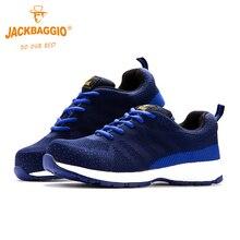 Safety Shoes Boots Warm-Sneakers Steel Anti-Smashing Men Blue Man Autumn Toe-Cap