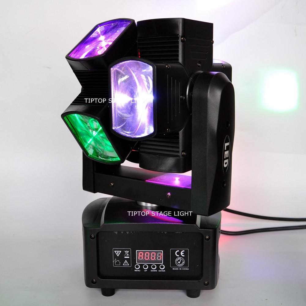 Freeshipping 2 Pack Led Cube Moving Head Beam Licht Dmx/Sound Muziek/Auto Control Lcd Display Iec Power socket 3 Pin Dmx Pin Con - 2