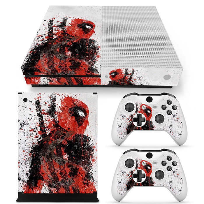 For Xbox one s console sticker and 2 controllers sticker for XBOX ONE S vinyl sticker for xbox one s pvc sticker---0020