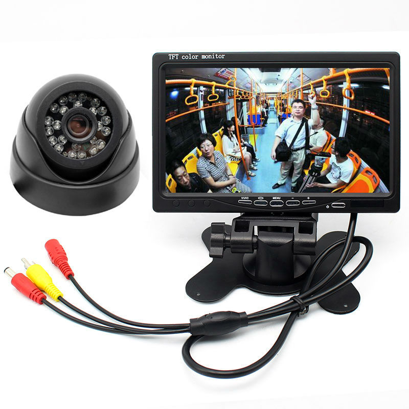 Closed Circuit Television System 7 Screen DVR TFT LCD Monitor + Dome LED IR Infared Surveillance Camera Night Vision
