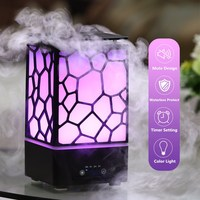 24V 9W 200ML Water Cube Diffusers Aroma Lamp 7 Colors LED Mist Maker Ultrasonic Aroma Air