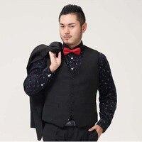 XL 6XL Mens Suit Vest Brand Clothing Business Casual Wedding Waistcoats Men's Dress Vests Formal Vest Black Colete