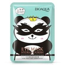 BIOAQUA бренд маска для глаз увлажняющая Милая Черная маска Уход за глазами лечение Расслабляющая анти-отечность анти темные круги под глазами коллаген
