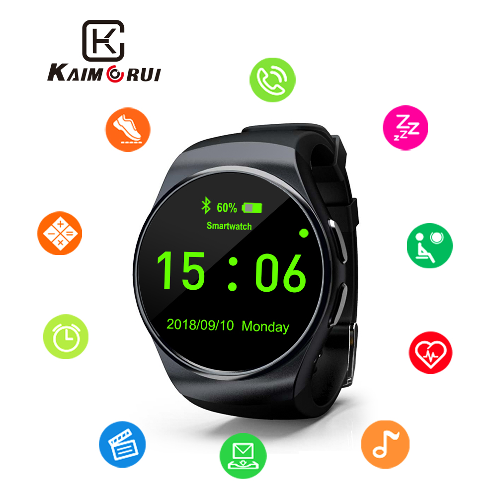 Kaimorui Smart Watch Heart Rate Pedometer Monitor Sleep Fitness Tracker Bluetooth Smartwatch for IOS Android Smart Watch new wifi android smart watch wrist watch smartwatch heart rate monitor fitness tracker pedometer for sumsang galaxy gear 2