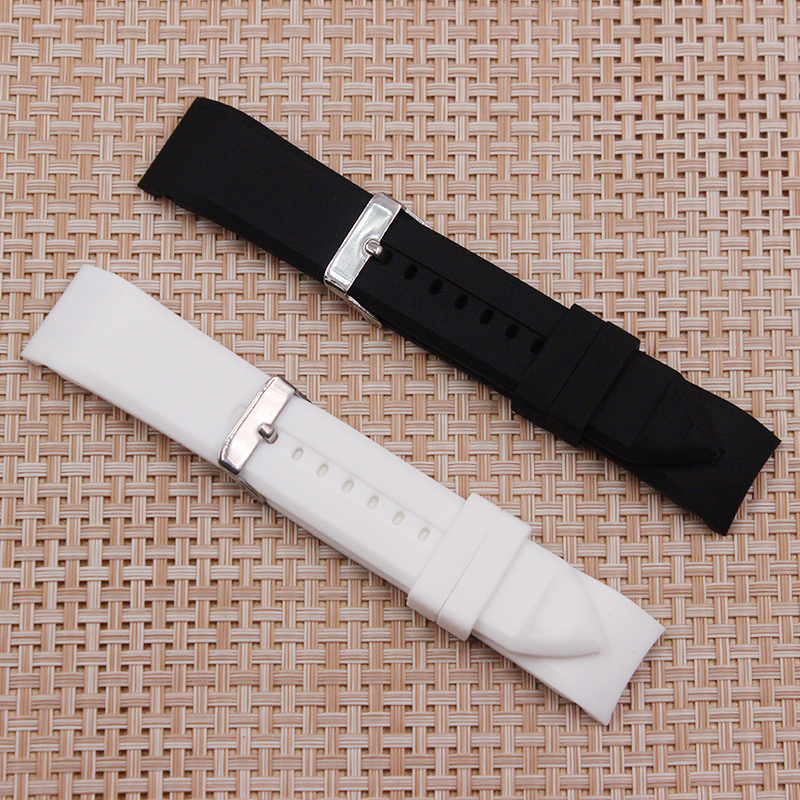 72e9a0efe6bb Ver accesorios adaptados para Armani Correa AR5987 AR5985 AR5979 caucho de  silicona negro impermeable Correa 23mm de los hombres correa de reloj