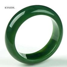 Natural Jade Bracelet Taiwan Green imperial concubine bracelet 60mm