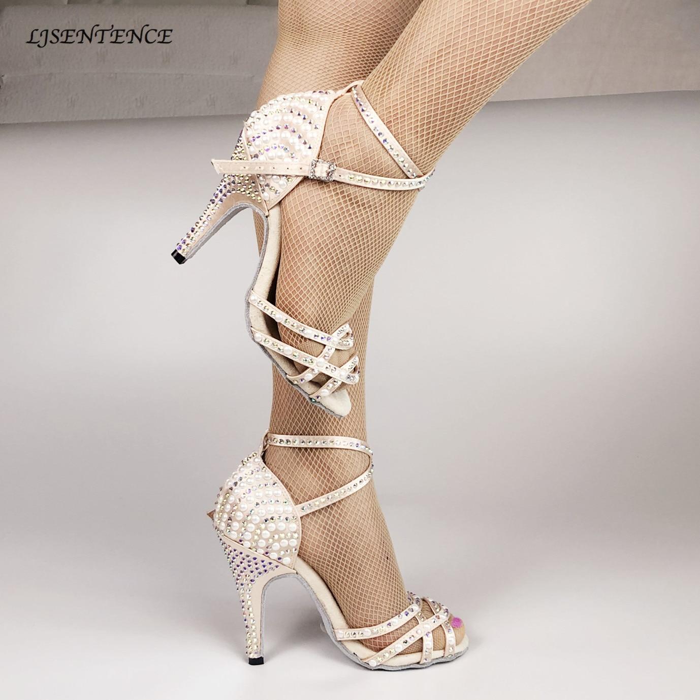 Fashion Ballroom Latin Tango Dance Shoes Women Soft Sole High Heels for Women Skin Color Stable Dancing latin dance shoes woman
