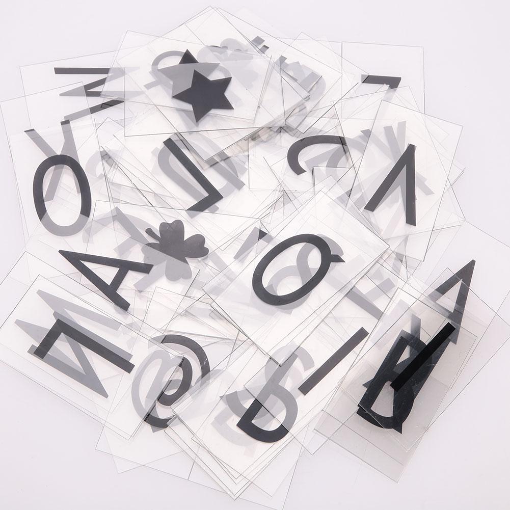 Nordic 85 шт карточки с буквами Замена для A4 свет знак коробки СВЕТОДИОДНЫЙ кинематографический подарок