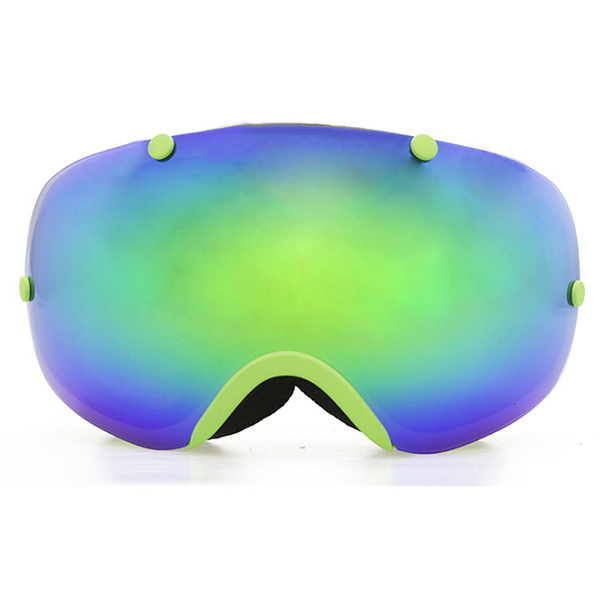 Copozz Polarized ski goggles 2 double lens UV400 anti-fog big ski glasses skiing snowboarding goggles Green цены