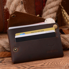 COWATHER New arrival Credit Card holder Crazy horse leather men wallet