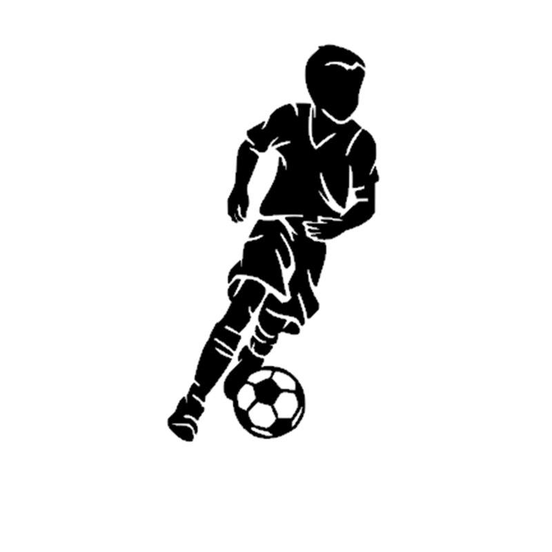 Little Boy Soccer Player Sticker Sports Football Decal Car Helmets Kids Posters Vinyl Football Sticker