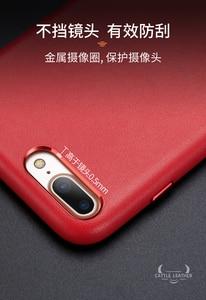 Image 4 - Dla iphone 7 7 Plus skórzane etui z bydła 100% oryginalne etui z prawdziwej skóry Duzhi dla iphone 7 8 odporne na wstrząsy skórzane etui