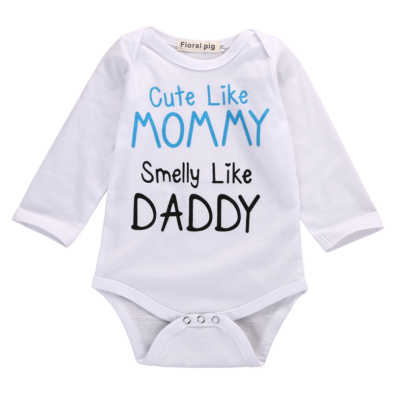 Autumn Baby Bodysuit Cute Newborn Infant Baby Boy Girl Quote Long