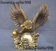 wedding decoration Chinese brass success flying Eagle Bird hawk Lanneret King Statue sculpture