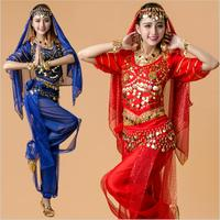 High grade Belly Dance Outfit Costume Bollywood Costume 6 Color Triba Gypsy Indian Dress Dance Wear