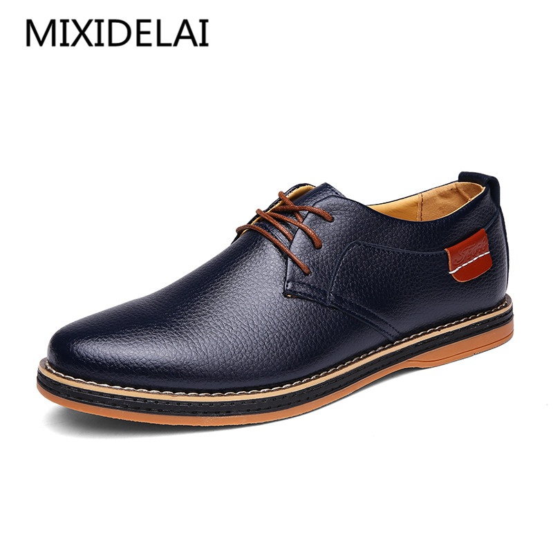 New 2017 Men Shoes Lace Up Designer Spring Autumn Fashion Men Casual Shoes Male Footwear For Men Black Blue new 2017 men s genuine leather casual shoes korean fashion style breathable male shoes men spring autumn slip on low top loafers