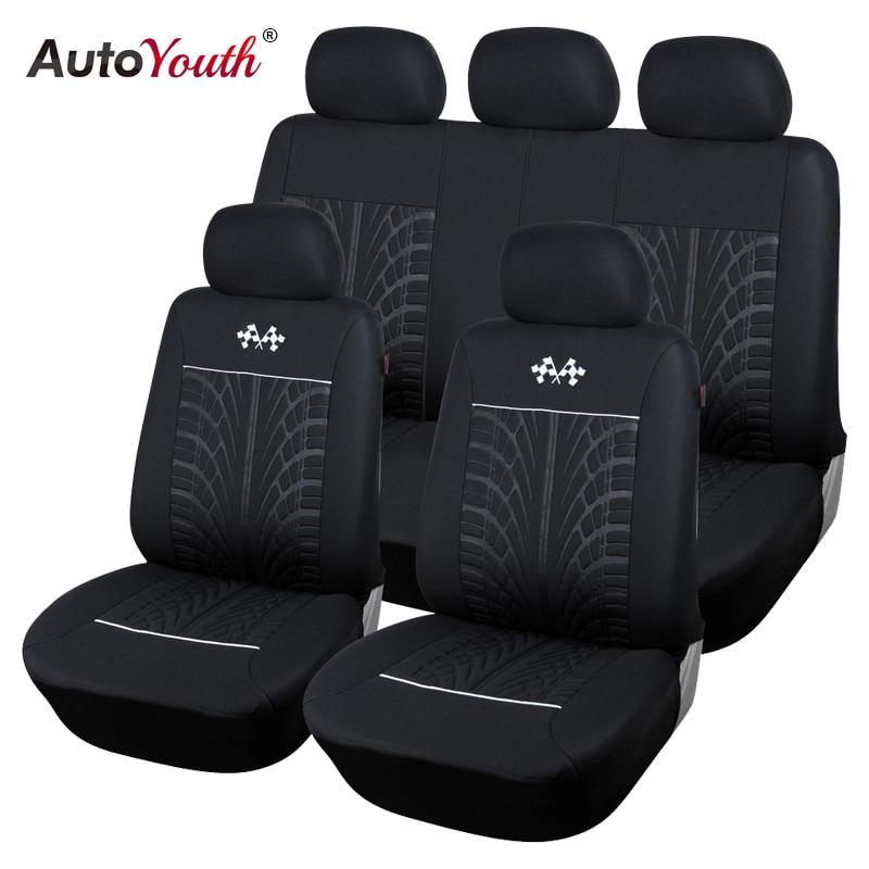 AUTOYOUTH Sports housses de siège de voiture véhicules universels sièges voiture siège protecteur accessoires intérieurs pour TOYOTA Corolla RAV4 noir