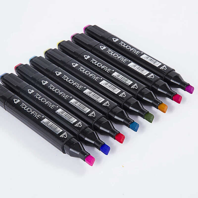 TouchFIVE 12/24 цветов эскиз тона кожи Маркер ручка художника двуглавый на спиртовой основе манга художественные маркеры Кисть ручка