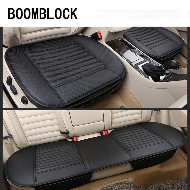 BOOMBLOCK Car Seat Covers Cushion Genuine Leather For Inifiniti Kia Rio 3 K2 Sportage Ceed Ford Fiesta Mondeo Suzuki Swift Parts