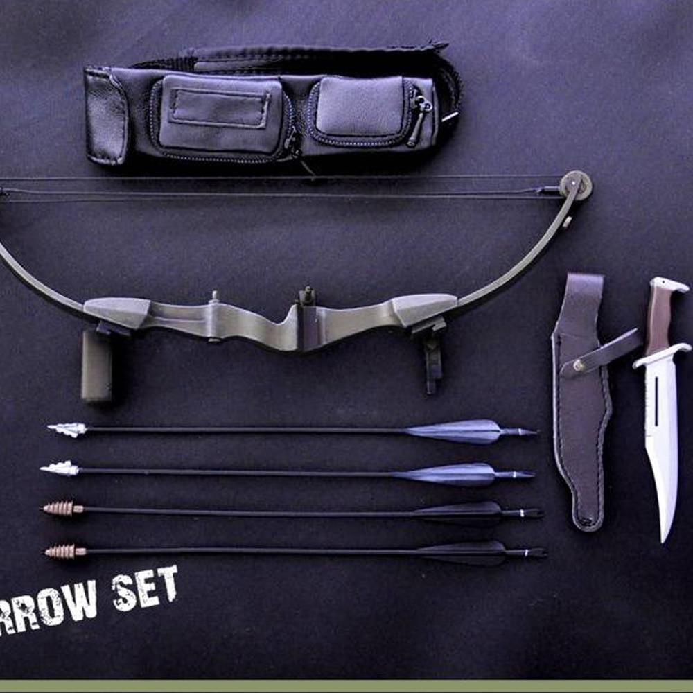 1/6 Soldier Scene Accessories Black Archery Set1/6 Soldier Scene Accessories Black Archery Set