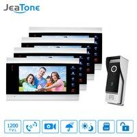 JeaTone Video Doorbell Phone Intercom Monitor 7 Inch LCD Door Intercom Phone Intercom System With 1