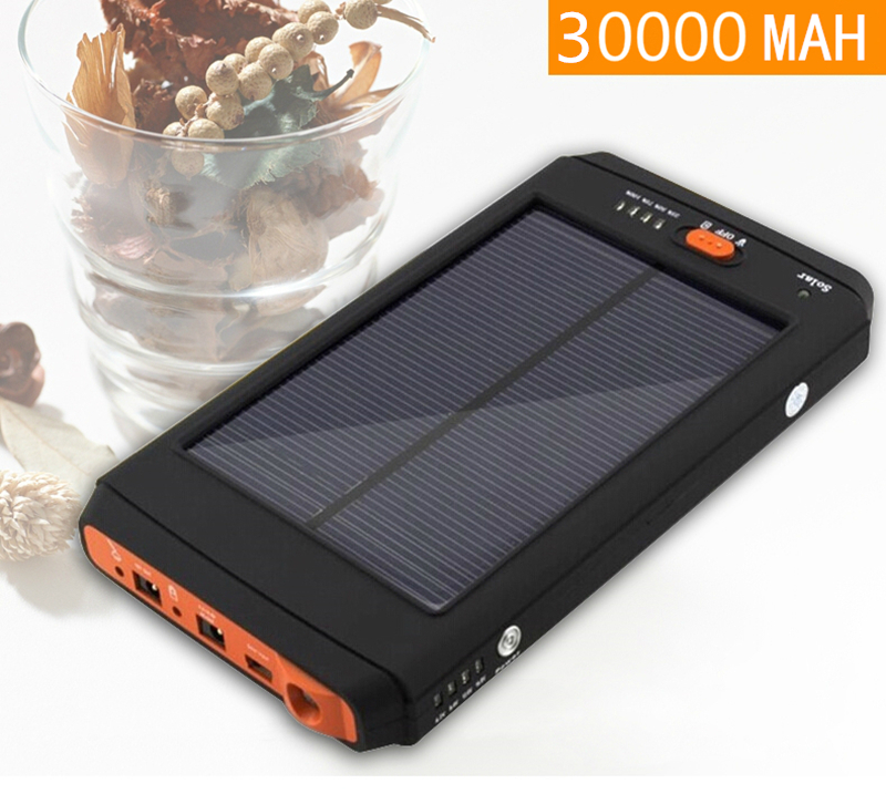 Solar Energy rechargeable 30000MAH Lithium polymer Power Source for Laptops phones 19V,4.2V,12.6V,16.8V,8.4V Li-Pol Batteries