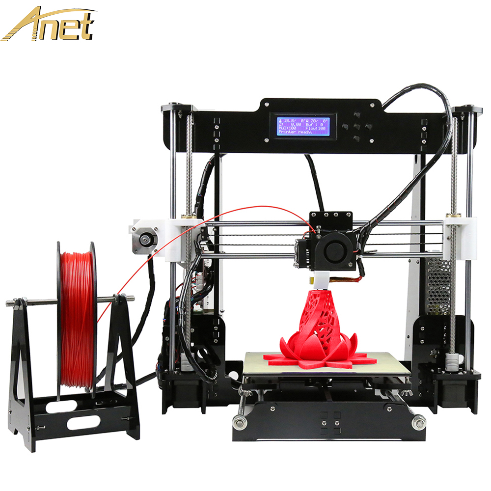 Anet A8 Full Acylic Frame Big Printing Size 220*220*240mm High Precision Reprap i3 3D Printer Kit DIY Free PLA/ABS Filament big size 220 220 240mm high quality precision 3d printer diy kit with pla filament 8gb sd card and lcd for free