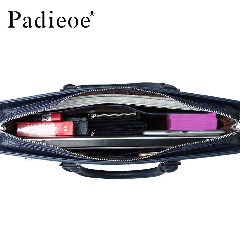 Padieoe, деловая брендовая мужская сумка, ts, модная мужская сумка из натуральной кожи, Мужской Жесткий портфель для документов, мужская сумка для ноутбука ts, сумка для мужчин - 6