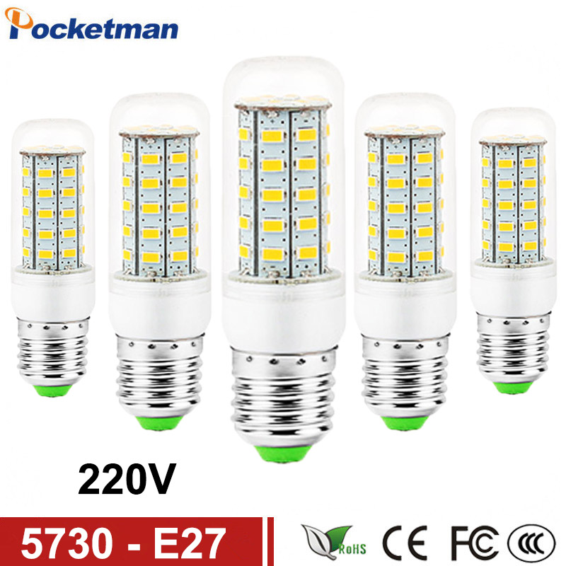 LED Bulb Lamp E27 E14 110/220V SMD5730 24/36/48/69Leds Light Bulbs Lampada LED Diode Lamps Energy Saving Light for Home Dropship