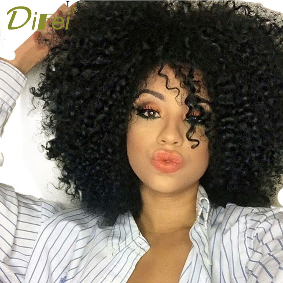 DIFEI Short Curly Hair Curly Wig High Temperature Fiber Hair Extension Clip Cospaly Wig  ...
