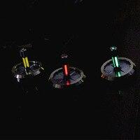 EDC Tritium Copper + Titanium Starlight EDC Gyro Toys Fingertip Gyro Russain Spiral Titanium Tritium Tube Toy Stress Reliever