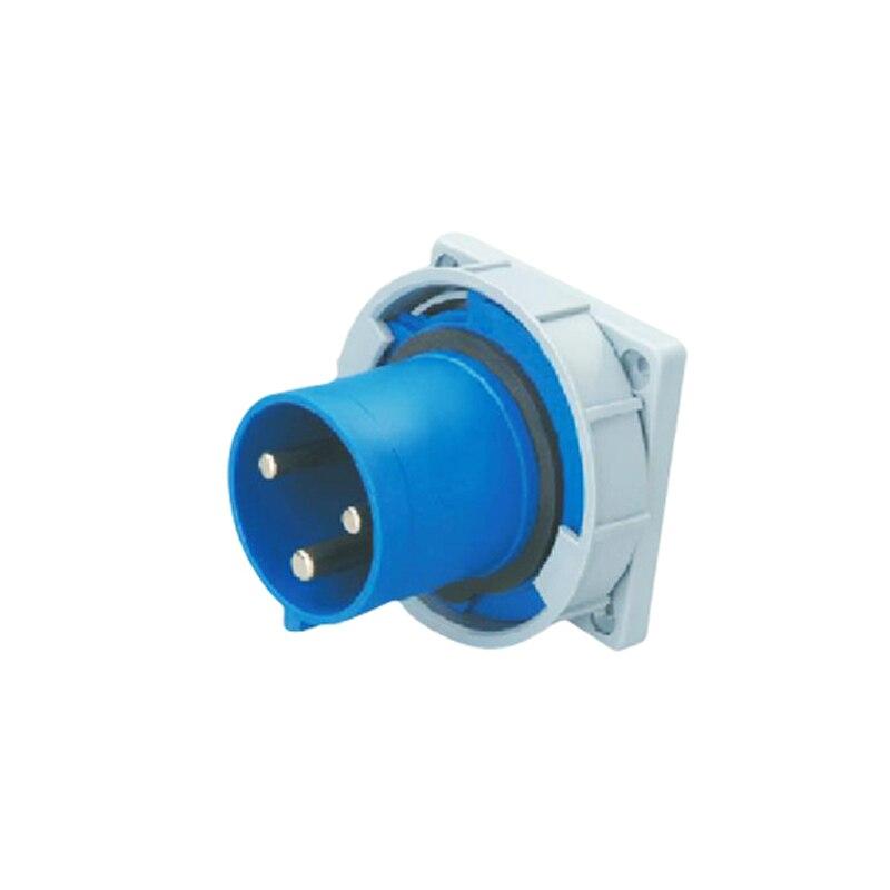 125A 3Pin Novel industrial implement hide direct socket connector SFN-6432 concealed installation 220-240V~2P+E waterproof IP67  63a 3pin 220 240v industrial waterproof hidden oblique socket waterproof grade ip67 sf 433