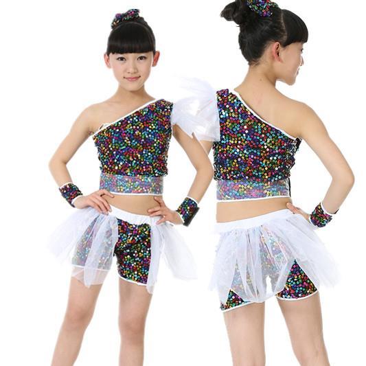 747c440c1f93a 10 unids lote envío gratis lentejuela niños hip hop danza jazz trajes para  Niñas niños stage performance Salón ropa