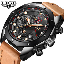 2018 LIGE Hot Luxury Brand Quartz Watch Men Casual Leather Hodinky Waterproof Clock Relogio Masculino Zegarek Meski Gift 9885