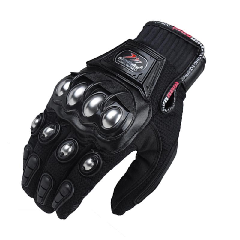Prix pour Moto gants hommes d'été d'équitation moto luvas moto vélo gants respirant maille tissu motocicleta guantes