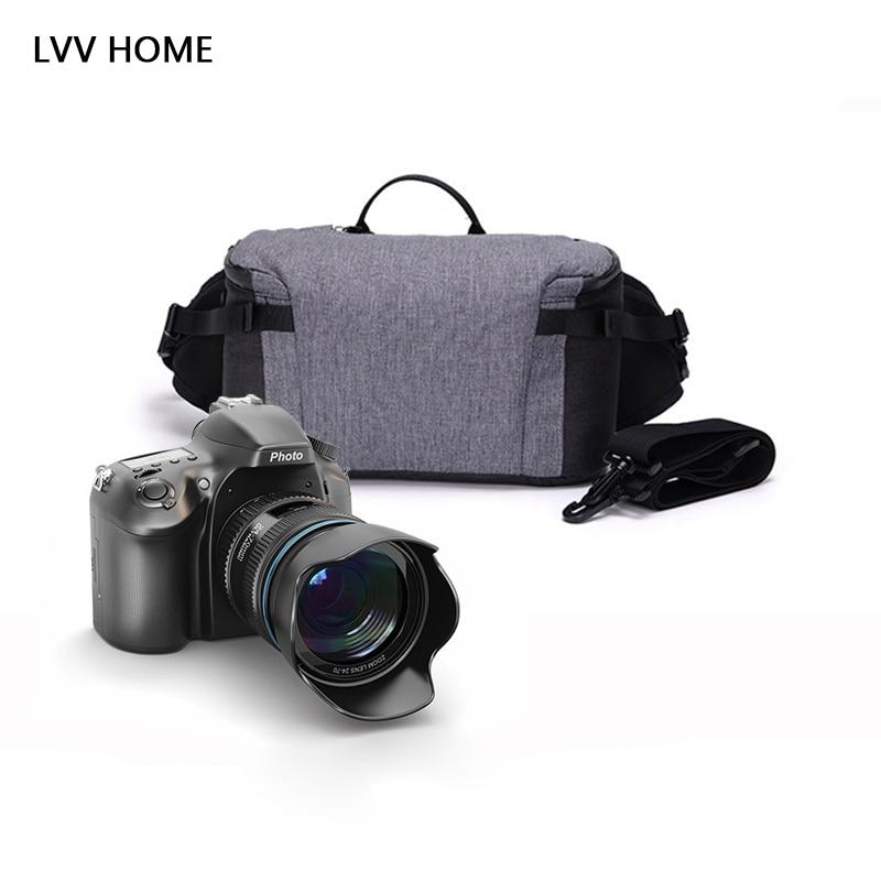LVV HOME waterproof camera storage bag/Multi functional outdoor SLR crossbody digital photography storage