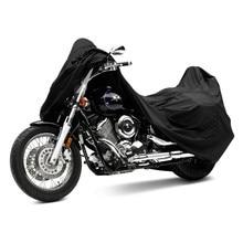 Partol L XXL XXXL Black PU Motorcycle Cover Waterproof Outdoor UV Bags Dust Bike Rain Dustproof Motorbike Scooter Motocross