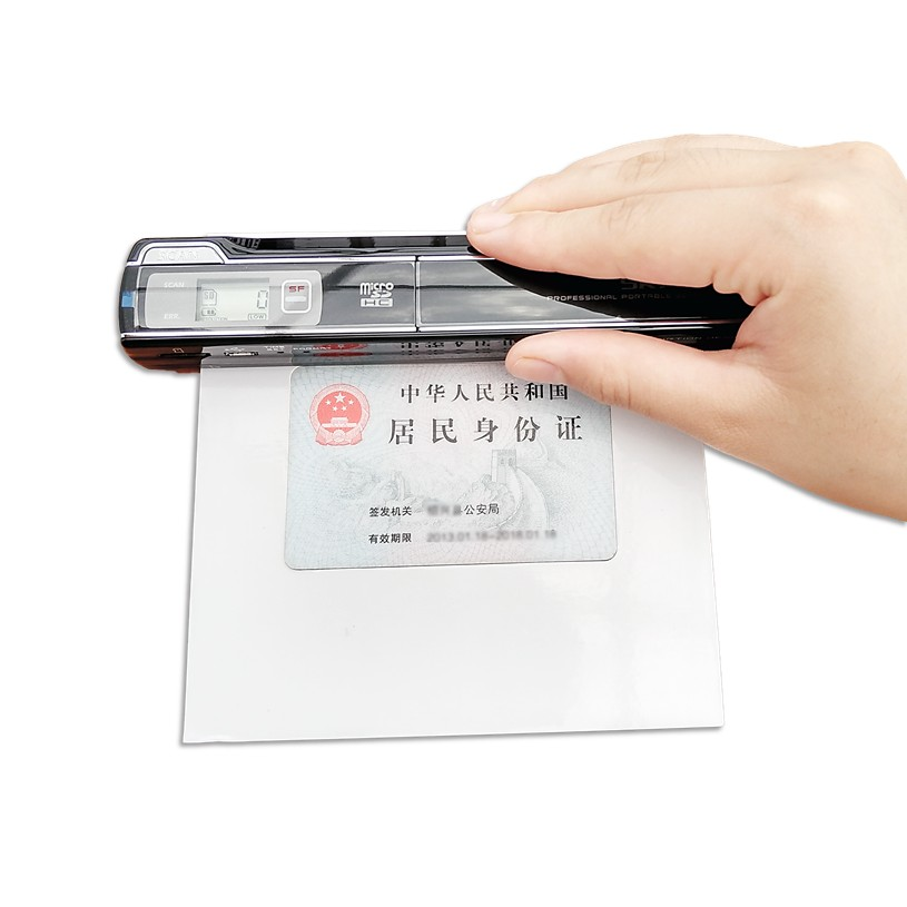handy portable scanner Mini ID Certificate scanner HD Business card ...