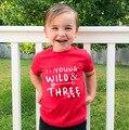 Футболка для маленьких детей, 3 дня рождения, милая рубашка для девочек и мальчиков, топы, модный стиль, подарок для вечерние