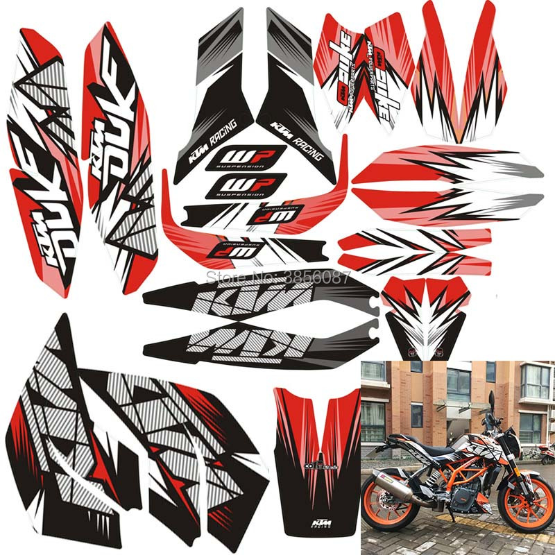 FASP DUKE 125 200 390 motorcycle car sticker 3M thick street car modified decal sticker For KTM DUKE 2014-2016 year motorcycle rear brake master cylinder reservoir cove for ktm duke 125 200 390 rc200 rc390 2012 2013 2014