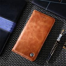 For Cover Oneplus 6T Case Triangle Route Leather Flip Wallet Bag